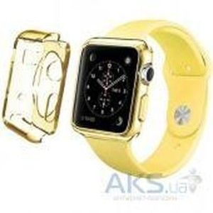 фото iBest чехол для Apple Watch 38mm TPU Case Clear Yellow
