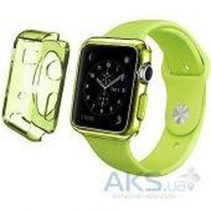 фото iBest чехол для Apple Watch 42mm TPU Case Clear Green