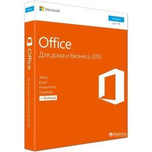 фото Microsoft Office 2016 для дома и бизнеса 32/64 Ukrainian для 1 ПК Коробочная версия (T5D-02734)