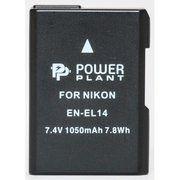 фото PowerPlant Aккумулятор для Nikon EN-EL14 Chip (D3100, D3200, D5100) (1050 mAh) - DV00DV129