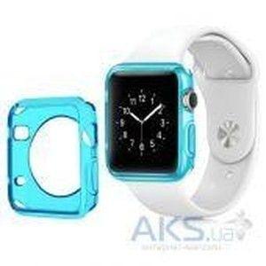фото iBest чехол для Apple Watch 42mm TPU Case Clear Blue