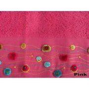 фото Altinbasak Полотенце EMMA Делюкс бархат с вышивкой - TM (Турция) 50x90 розовый 92652
