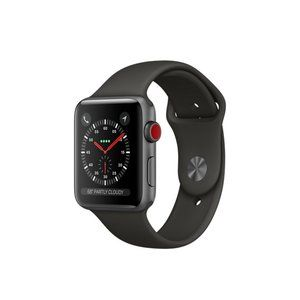 фото Apple Watch Series 3 GPS + Cellular 42mm Space Gray Aluminum w. Gray Sport B. (MR2X2)