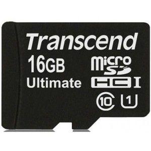 фото Transcend 16 GB microSDHC class 10 UHS-I Ultimate + SD Adapter TS16GUSDHC10U1