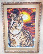 """фото Картина """"Тигр"""" вышивка"""