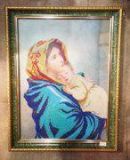 """фото Икона """"Божья матерь""""вышивка"""