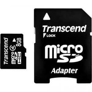 фото Transcend 8 GB microSDHC class 4 TS8GUSDC4