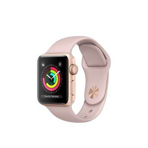 фото Apple Watch Series 3 GPS 38mm Gold Aluminum w. Pink Sand Sport B. - Gold (MQKW2)