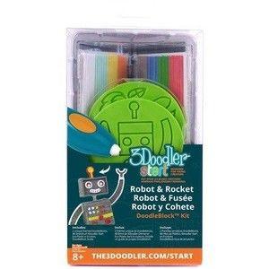 фото 3Doodler Набор аксессуаров для 3D ручки START РАКЕТА, 48 стержней, 2 шаблона (3DS-DBK-RO)