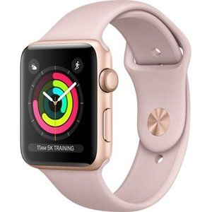 фото Apple Watch Series 3 GPS 42mm Gold Aluminum w. Pink Sand Sport B. - Gold (MQL22)