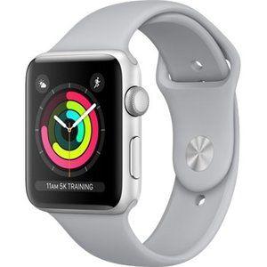 фото Apple Watch Series 3 GPS 42mm Silver Aluminum w. Fog Sport B. - Silver (MQL02)