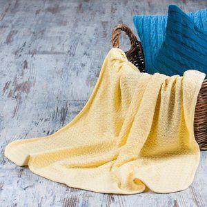 фото Плед детский Vividzone КОЛОСОК 110х120 желтый