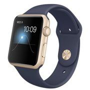 фото Apple 42mm Gold Aluminum Case with Midnight Blue Sport Band (MLC72)