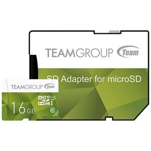 фото TEAM 16 GB microSDHC UHS-I + SD Adapter TCUSDH16GUHS43