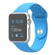 фото Apple 42mm Silver Aluminum Case with Blue Sport Band (MLC52)