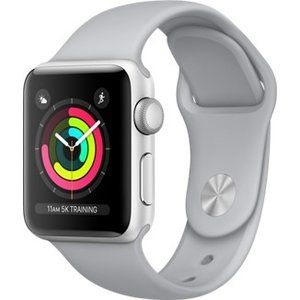 фото Apple Watch Series 3 GPS 38mm Silver Aluminum w. Fog Sport B. - Silver (MQKU2)