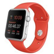 фото Apple 42mm Silver Aluminum Case with Orange Sport Band (MLC42)