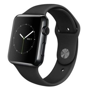 фото Apple 42mm Space Black Stainless Steel Case with Black Sport Band (MLC82)