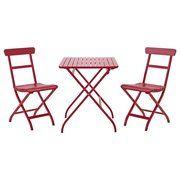 фото IKEA MALARO Стол+2стула,д/сада, красный (390.358.95)