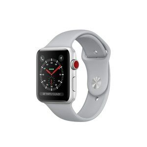 фото Apple Watch Series 3 GPS + Cellular 42mm Silver Aluminum w. Fog Sport B. (MQK12)