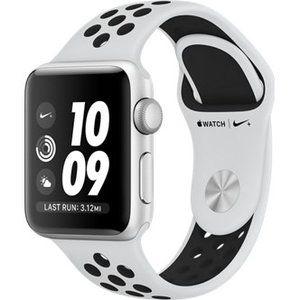 фото Apple Watch Nike+ Series 3 GPS 42mm Silver Aluminum w. Pure Platinum/BlackSport B. (MQL32)
