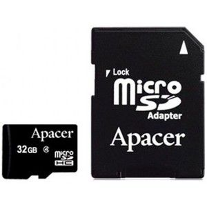 фото Apacer 32 GB microSDHC Class 4 + SD adapter AP32GMCSH4-R
