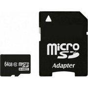фото Exceleram 64 GB microSDXC class 10 + SD Adapter MSD6410A