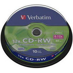 фото Verbatim CD-RW 700MB 12x Cake Box 10шт (43480)