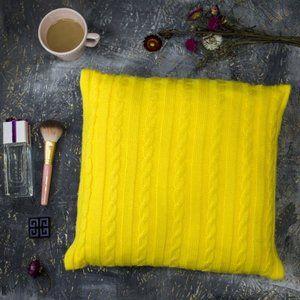 фото Подушка декоративная Vividzone  КЛАССИК 40х40 лимонный
