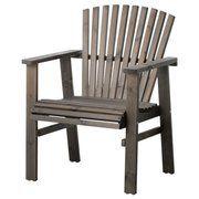 фото IKEA SUNDERO Садовое кресло, серый пятно серый (502.052.16)