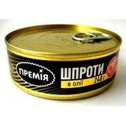 фото Премія Шпроты в масле ключ 240г