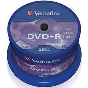 фото Verbatim DVD+R 4,7GB 16x Spindle Packaging 50шт (43550)