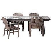 фото IKEA SUNDERO Стол+4 стула, серый пятно (598.984.92)