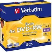 фото Verbatim Mini DVD+RW 1,4GB 4x Jewel Case 5шт (43565)
