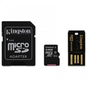 фото Kingston 64 GB microSDXC class 10 Mobility Kit MBLY10G2/64GB