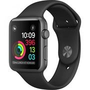 фото Apple Watch Series 1 42mm Space Gray Aluminum Case with Black Sport Band (MP032)