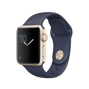 фото Apple Watch Series 2 42mm Gold Aluminum Case with Midnight Blue Sport Band (MQ152)
