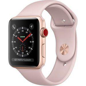 фото Apple Watch Series 3 GPS + Cellular 42mm Gold Aluminum w. Pink Sand Sport B. (MQK32)