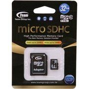 фото TEAM 32 GB microSDHC Class 10 + SD Adapter TUSDH32GCL1003