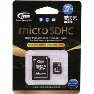 фото TEAM 32 GB microSDHC Class 10 + SD Adapter TUSDH32GCL1003