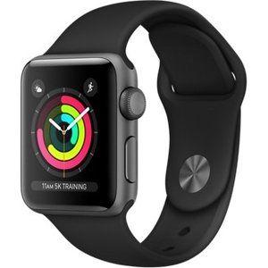 фото Apple Watch Series 3 GPS 38mm Space Gray Aluminum w. Black Sport B. - Space Gray (MQKV2)