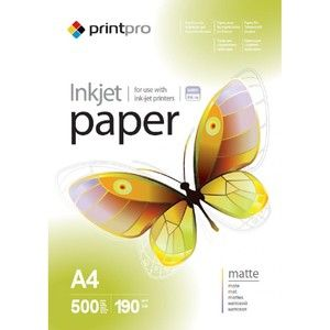 фото PrintPro 190г/мВІ, A4, 500л, матовая (PME190500A4)
