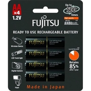 фото Fujitsu AA 2450mAh NiMh 4шт HR-3UTHCEX (4B)