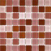 фото Mozaico de Lux S-Mos HT K353331305060 Red Mix - Мозаика стеклянная универсальная, 30x30 см (663