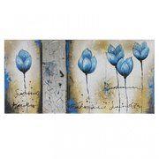 фото Brille Картина Ручная работа Синие цветы QP9 (D5-008)