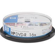 фото HP DVD-R 4,7GB 16x Cake Box 10шт (DME00026)