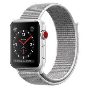фото Apple Watch Series 3 GPS + Cellular 42mm Silver Aluminum w. Seashell Sport L. (MQK52)
