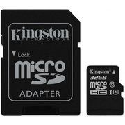 фото Kingston 32 GB microSDHC Class 10 UHS-I + SD Adapter SDC10G2/32GB