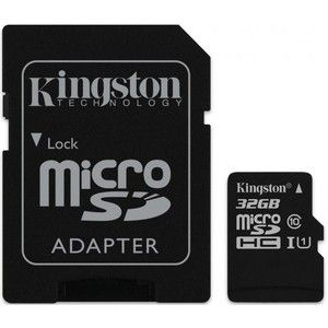 фото Kingston 32 GB microSDHC Class 10 UHS-I + SD Adapter SDC10G2/32GB