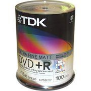 фото TDK DVD+R Printable 4,7GB 16x Cake Box 100шт